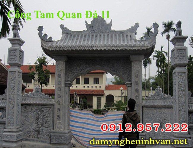 Cổng đá đẹp chế tác tại làng nghề Ninh Bình