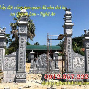 Mẫu cổng nhà thờ họ từ đường đẹp