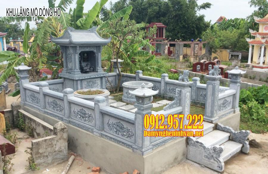 khu lăng mộ dòng họ, khu lăng mộ đá, khu lăng mộ đẹp, khu lăng mộ gia đình, kiểu mộ xây đẹp