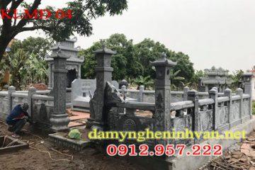 Khu lăng mộ đá, làm lăng mộ đá dòng họ, mẫu lăng mộ đẹp, Kích thước lăng mộ đá;