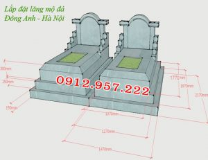 Kích thước xây mộ đôi đẹp, Kích thước xây mộ đẹp, Kích thước mộ đôi, Kích thước mộ hợp phong thủy