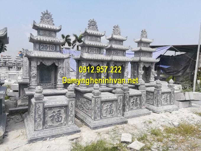 Lăng mộ 3 đao bằng đá