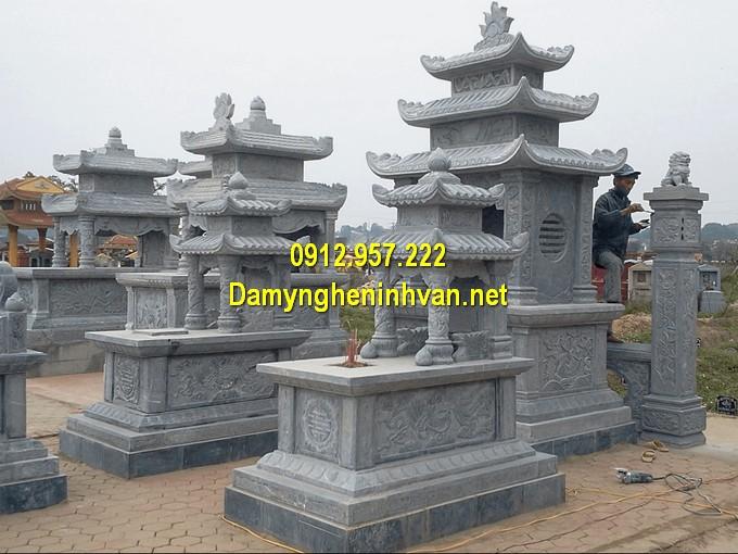 Lăng mộ đá ba mái đẹp bằng đá xanh