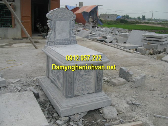 Hình ảnh mộ đá hậu bành chạm khắc thủ công, giá thành rẻ