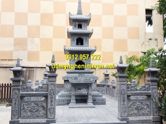 Lăng mộ tháp đá hợp phong thuỷ, kích thước lỗ ban