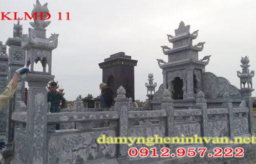 Lăng mộ gia đình, làm lăng mộ gia đình bằng đá, Khu lăng mộ gia đình
