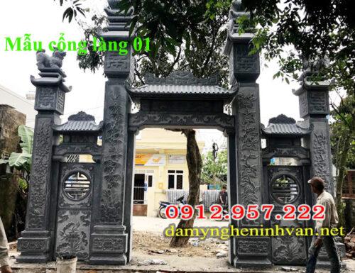 Mẫu cổng làng văn hóa