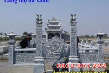 Mẫu lăng mộ đá xanh Thanh Hóa giá rẻ 2018