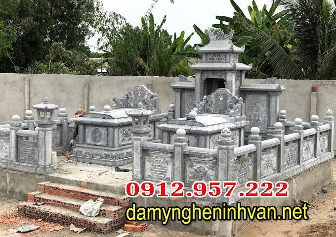 Lăng mộ đá đôi, mẫu xây mộ đôi đẹp,mộ đá đôi,