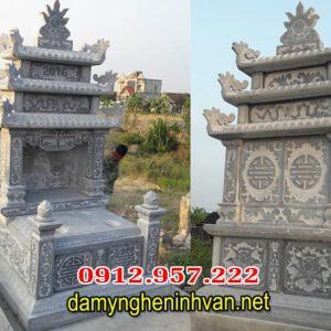 Mẫu mộ đôi xây đẹp đơn giản - Xây mộ đá đôi tại TPHCM
