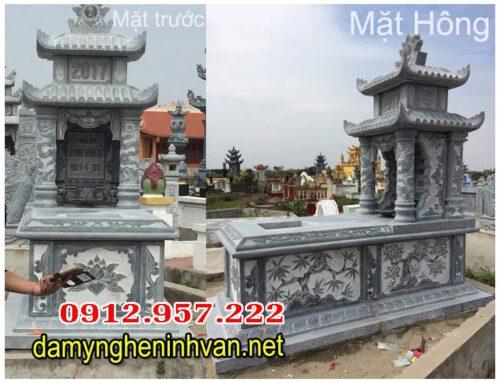Mộ đá giá rẻ 02 nguyên khối chế tác tại Ninh Bình.