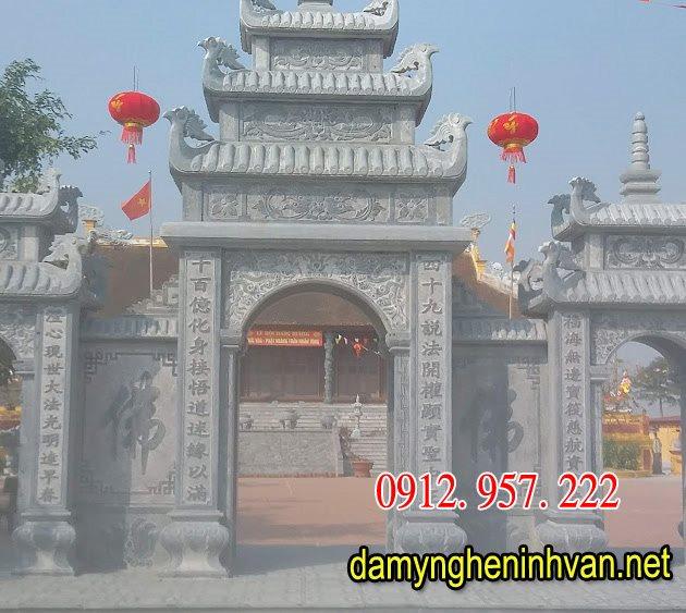 Cổng chùa bằng đá , Cổng chùa đẹp bằng đá, Mẫu cổng chùa bằng đá,