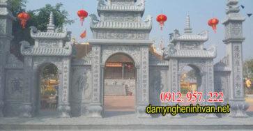 Tìm hiểu mẫu cổng đá tam quan đình chùa đẹp