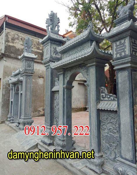 Mẫu cổng đình chùa đẹp ,