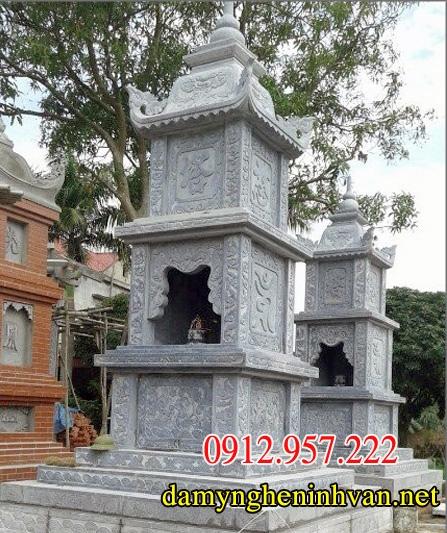 Các mẫu mộ đá tháp phật giáo đẹp nguyên khối