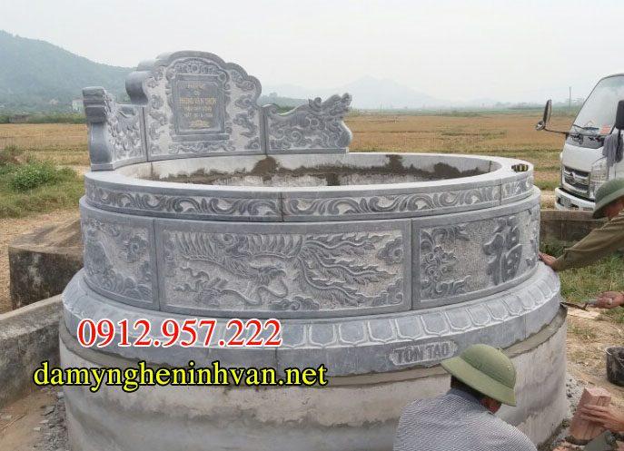 Phong thuy Mo da tron Kich thuoc xay mo tron 2019