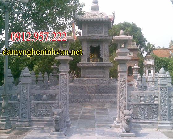 Tìm hiểu về Tháp mộ đá Mộ tháp phật giáo 04