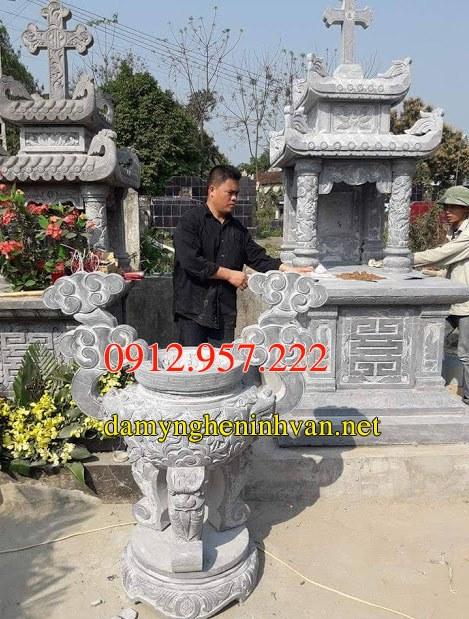 Xây mẫu mộ đá công giáo đẹp hiện đại nhất 01,Mộ đá công giáo,Mẫu mộ công giáo đẹp, Mộ công giáo,
