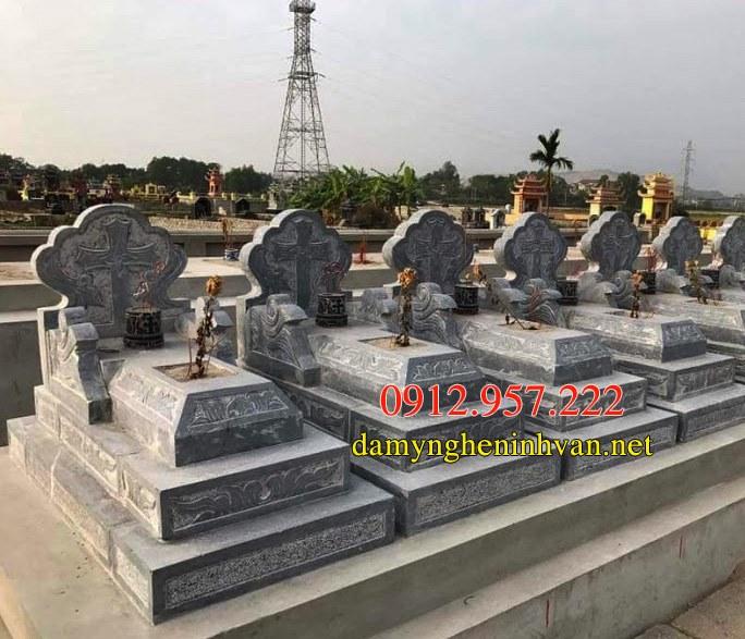 Xây mẫu mộ đá công giáo đẹp hiện đại nhất 05