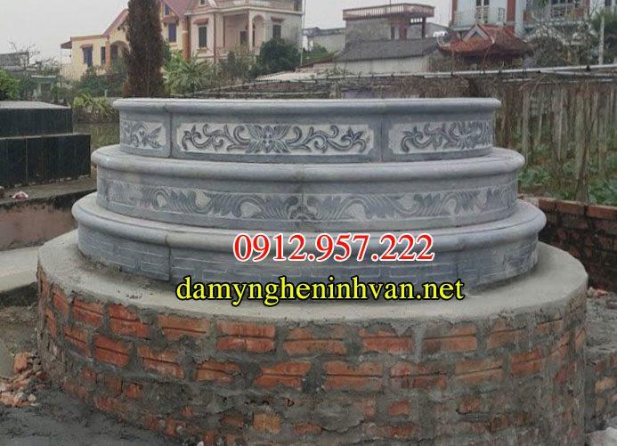 Mẫu mộ tròn đá 3 cấp