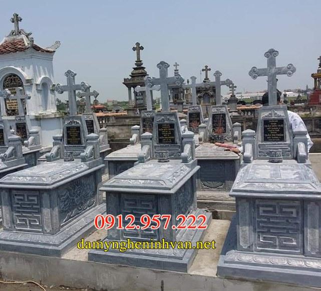 Mộ công giáo 03 , Mộ đá công giáo, Mẫu mộ công giáo đẹp, Mộ người công giáo,