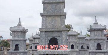 THáp mộ đá xanh nguyên khối