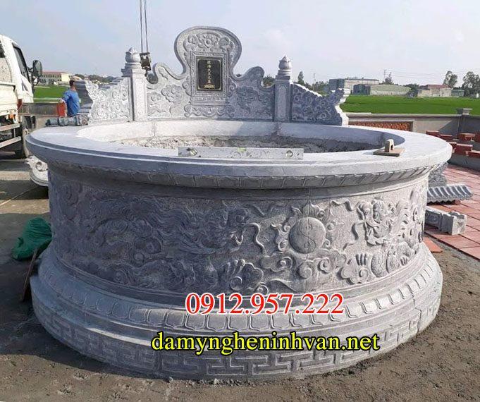 Thiết kế mộ tròn đẹp, THiết kế mộ tròn, Mẫu thiết kế mộ tròn