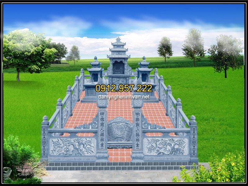 Phối cảnh toàn thể khu lăng mộ