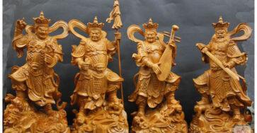 Tứ đại thiên vương tượng gỗ