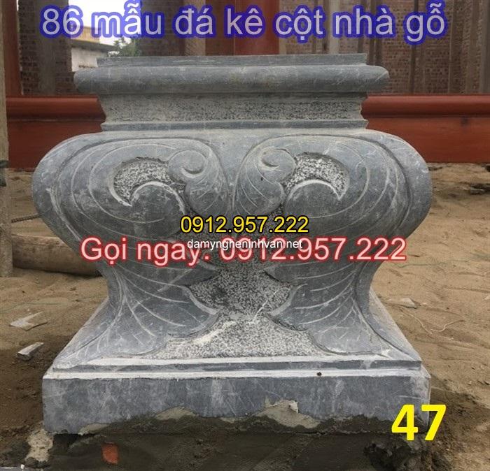 86 mẫu chân cột đá vuông, tròn đẹp dùng để kê cột nhà gỗ