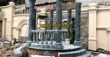 Cột đá tròn xanh rêu tại Lâm ĐỒng