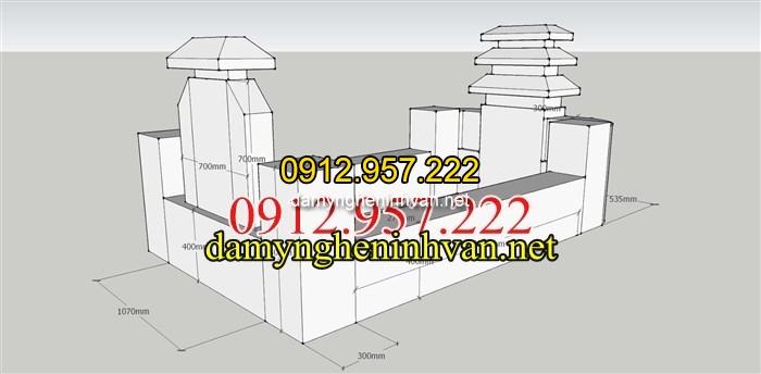Kích thước xây mộ đôi đẹp tại củ chi Sài Gòn