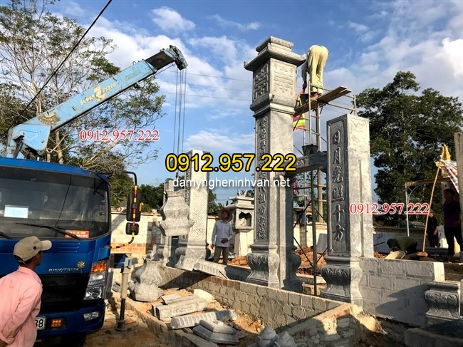 , Lắp đặt cột đá tại Hà TĨnh, Lắp đặt cột cổng nhà thờ họ tại Hà Tĩnh