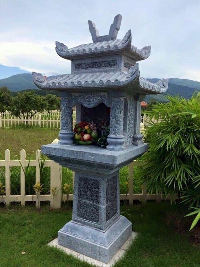Các mẫu bàn thờ ông thiên bằng đá có mái che