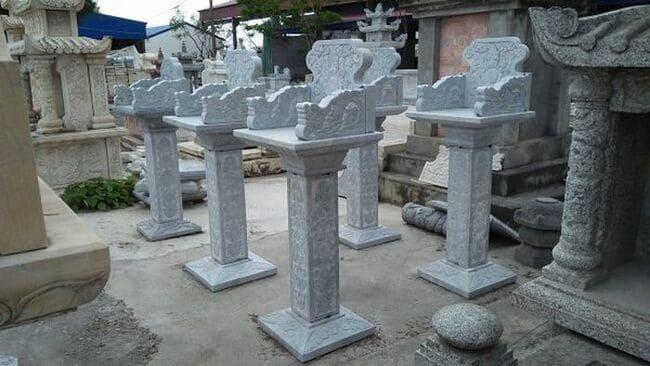 Những mẫu bàn thờ thiên trước nhà bằng đá xanh tự nhiên đẹp nhất