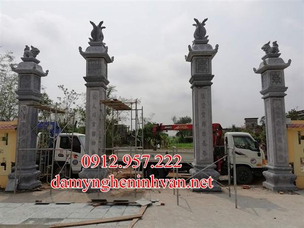 Các mẫu cổng nhà thờ họ từ đường đẹp truyền thống Việt Nam-02