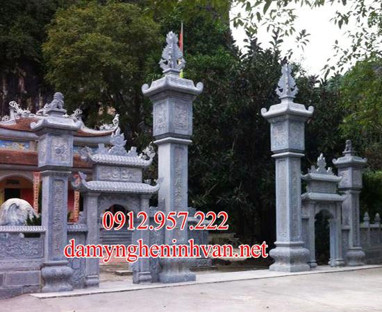 Cổng chùa bằng đá đẹp tại Bắc Giang-BG01, Cổng đình tại Bắc giang
