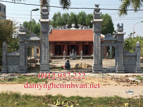 Cổng đá nhà thờ họ tại Hà Nội - CDHN04