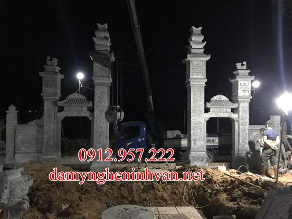Cổng nhà thờ họ từ đường làm tại Nghệ AN