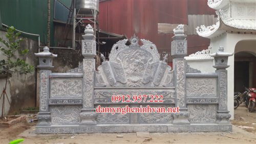 Hoàn thiện bức bình phong đá nhà thờ họ phan Tại Hà Nội;