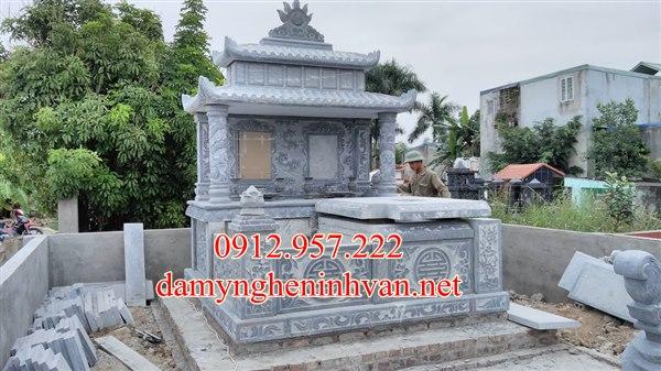 Lắp mẫu mộ đôi đẹp tại Thái Bình