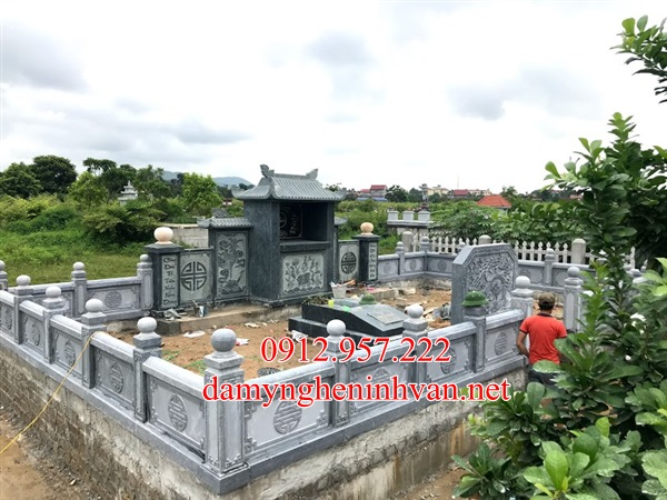 Mộ đá Bắc Ninh- Nhận làm lăng mộ đá xanh tại Bắc Ninh 02