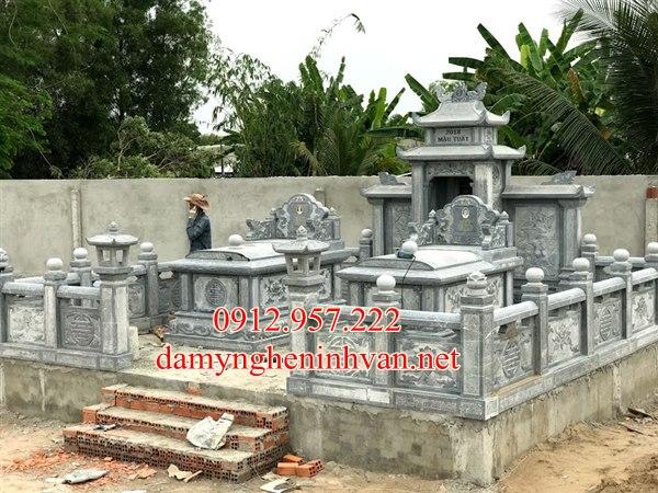 Mộ đá Thái Bình - Nhận làm mộ đá đẹp Thái Bình