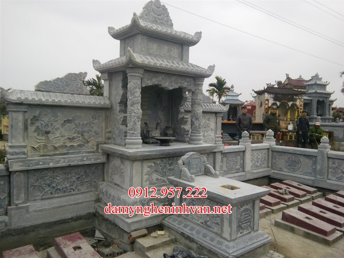 Mộ đá Thái Nguyên – Làm lăng mộ đá xanh Thái Nguyên đẹp nhất