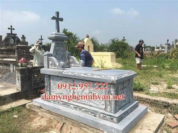 Mẫu mộ đá công giáo đẹp tại Tuyên Quang, Mộ công giáo tuyên quang, Mẫu mộ công giáo tuyên Quang