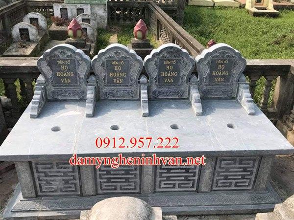 Mẫu mộ đôi mộ ba đẹp tại Hưng Yên