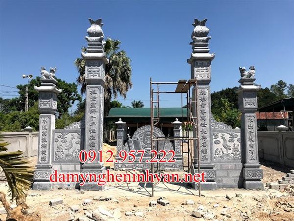 Xây cổng nhà thờ bằng đá tại Bắc GIang