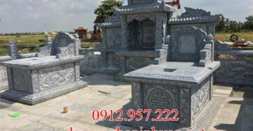 Xây mộ đá đẹp không mái tại Nam Định - MDND01, Mộ đá Nam Định
