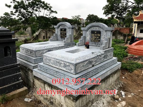 Xây mộ đẹp đơn giản mộ tam cấp đá tại Vinh Phúc