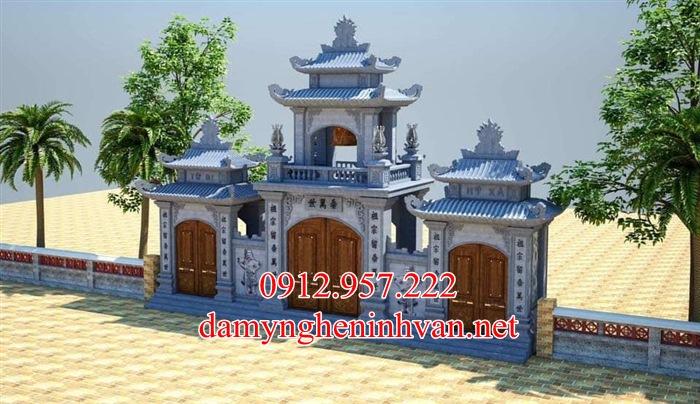 Bản vẽ 3d cổng đá nhà chùa tại Hà Nội;